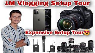10 Millon Dollar Vlogging Setup Tour // My Most Expensive Setup // Camera // Lens // Mic // Tripods