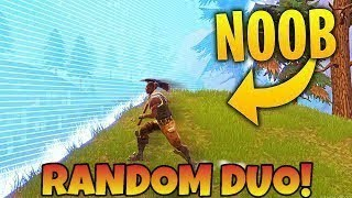 So I decided to do a RANDOM DUO on Fortnite Mobile...