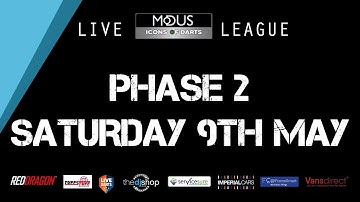 The LIVE MODUS ICONS OF DARTS LEAGUE PHASE 2: SATURDAY 9TH MAY
