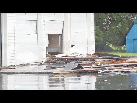 Tornado damage in West Seneca
