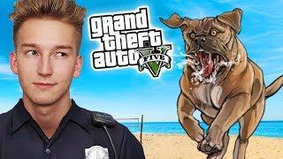 GTA V Policja #15 - WŚCIEKŁY PIES