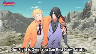 Th Ending of  Naruto Story after Isshiki's Death !! Sasuke Carried Naruto Back to Konoha