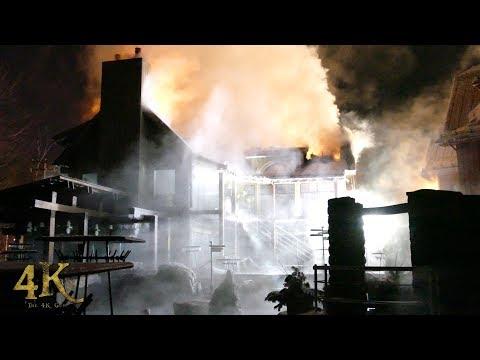 Rosemère: Spa Finlandais en feu une 2e fois / Destructive fire ruins famous spa 1-26-2018