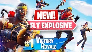 Jetpacks and Guided Missile!! New *FLY EXPLOSIVES* Gameplay!! (Fortnite Battle Royale)