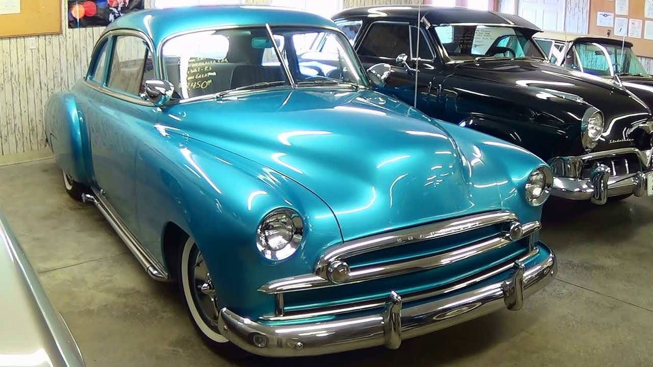 Coupe 1951 chevy sport coupe : 1949 Chevrolet Custom Hot Rod - V8 Lake Pipes Spot Lights Frenched ...