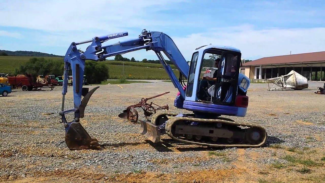 Komatsu Pc75uu 2 Excavator Running