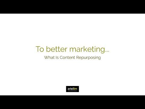 1MMV 030 - What Is Content Repurposing