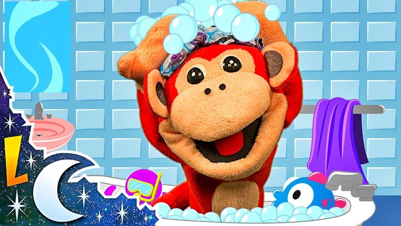 La Canción del Baño con El Mono Sílabo y Más Canciones Infantiles | 36 min de Lunacreciente