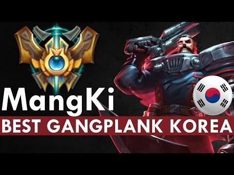 BEST GANGPLANK KOREA - MangKi Full Game Commentary by Nikjojo   League of Legends