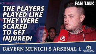 the players played like they were scared to get injured   bayern munich 5 arsenal 1