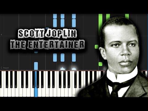 Scott Joplin - The Entertainer -  Piano Tutorial Synthesia + PDF Sheet Music (Download MIDI)
