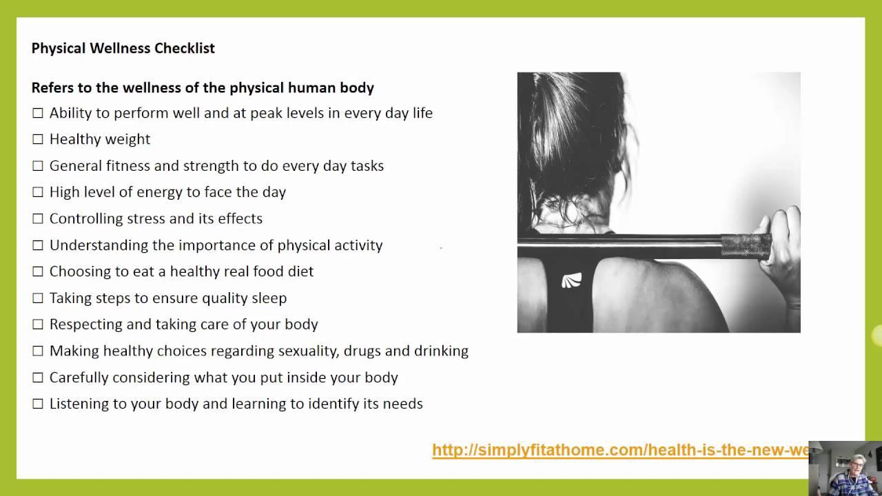 physical wellness checklist youtube
