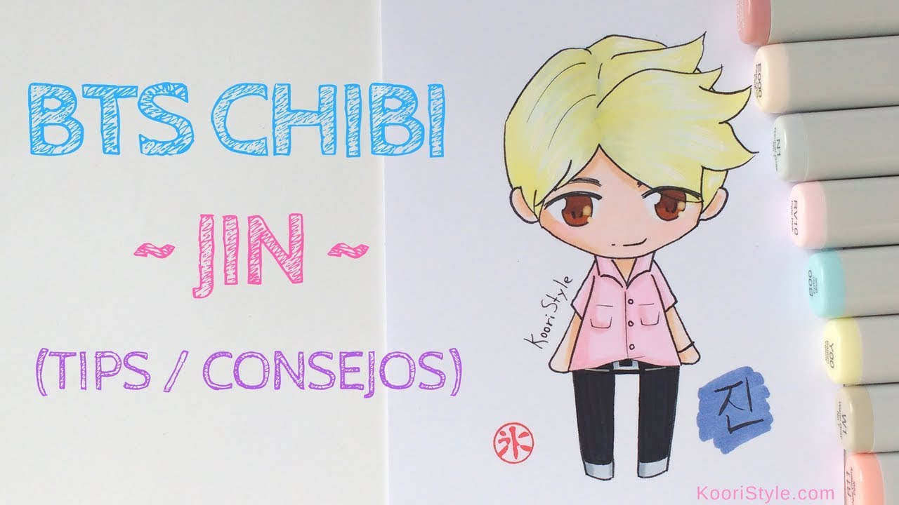 【bts Chibi】 Speed Drawing Jin Advice Eng Esp Youtube