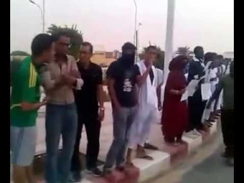وقفة  أمام السجن المركزي بانواكشوط   تنديدا باعتقال نشطاء حركة 25 فبراير و آخرين