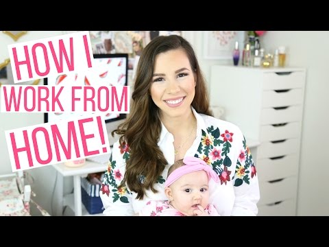 TIPS FOR WORKING FROM HOME | MY WORK FROM HOME ROUTINE | Hayley Paige