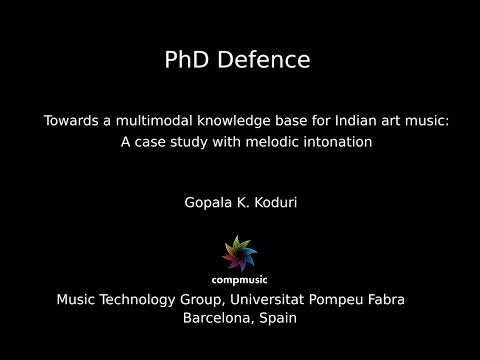 Gopala K. Koduri PhD Defense