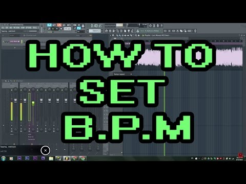 How To Set Your Tempo / BPM Counter / Metronome / On Fruity Loops 12 (FL Studio 12)