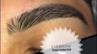 How to line up eyebrows men 💈(TRANSFORMATION )