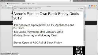 Aarons Rent To Own First Month Free Deal On Tvs, Laptops And Appliances - Black Friday 2012