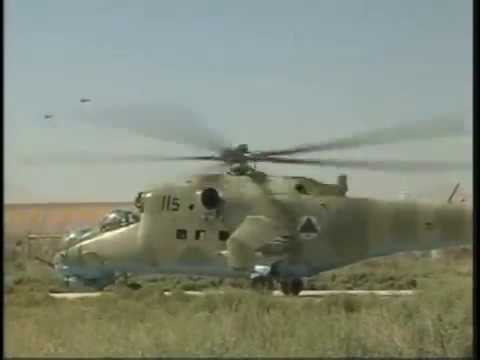Afghan Mi-35 Attack Helicopters