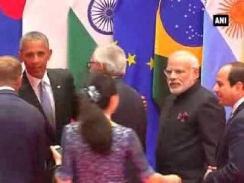 G20 summit: PM Modi meets US President Barack Obama after group photograph