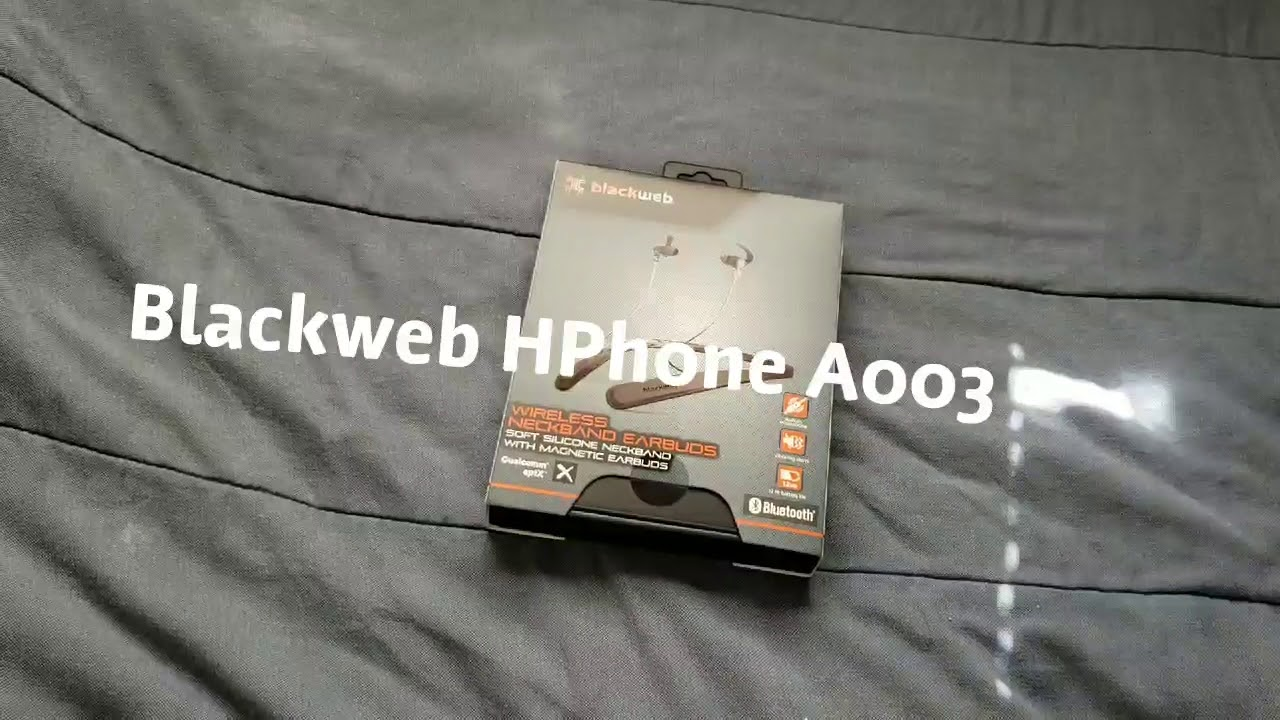 Blackweb Bluetooth Earbuds That Goes Around The Neck 2018 Youtube