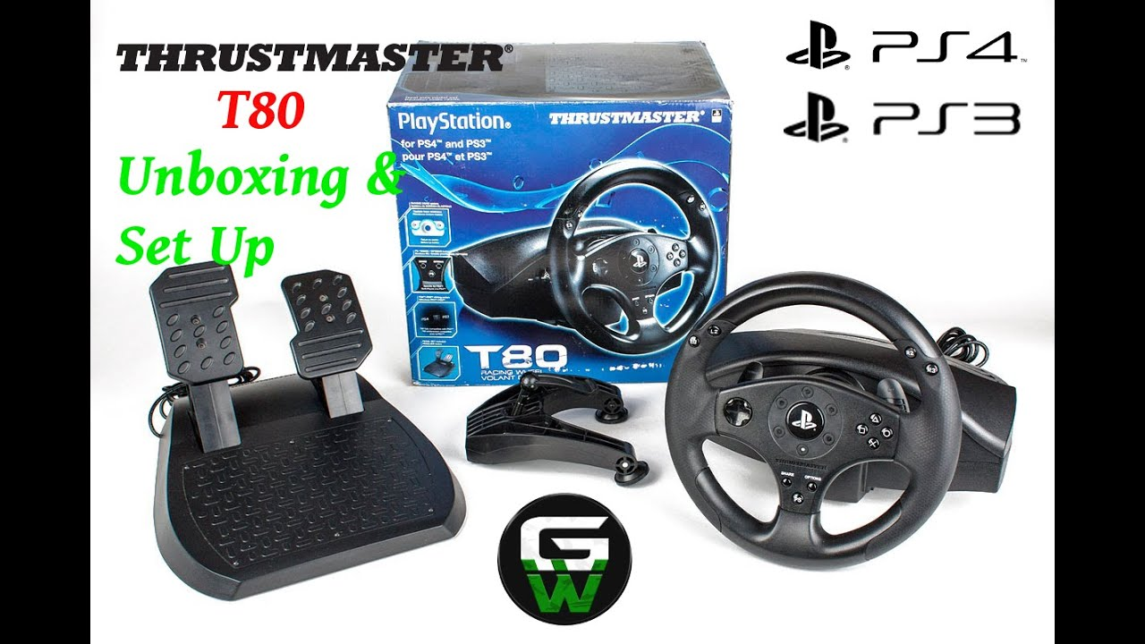 thrustmaster t80 racing wheel for ps4 ps3 unboxing ps4. Black Bedroom Furniture Sets. Home Design Ideas
