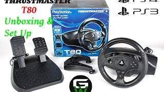 Thrustmaster T80 Racing wheel for PS4 & PS3 unboxing & Set Up