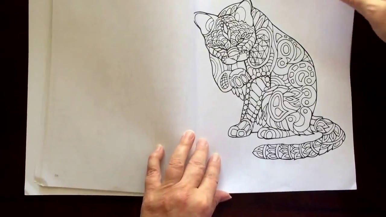 Stress relieving cats coloring - Stress Relieving Cats Coloring 55