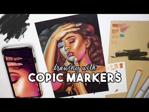 How To Draw With Copic Markers  |  Speed Drawing, Chat With Me!