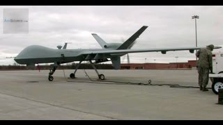 MQ-9 Reaper UAV Drone - Missile Unload, Taxi, Launch and Recovery
