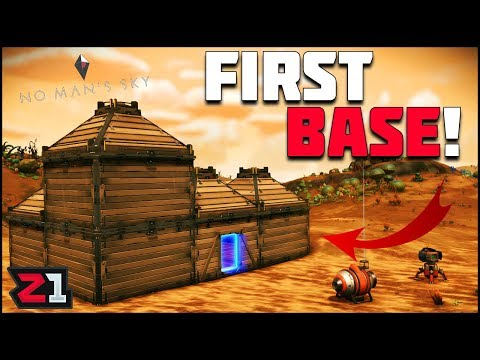 My First BASE! No Mans Sky Starting Base Episode 2 | Z1 Gaming