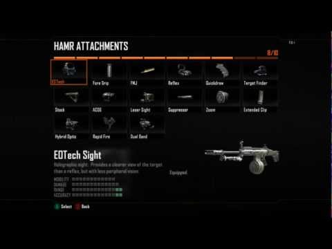 Black Ops 2: Create-A-Class - ALL Guns / Weapons + Attachments + Perks + Scorestreaks + More!