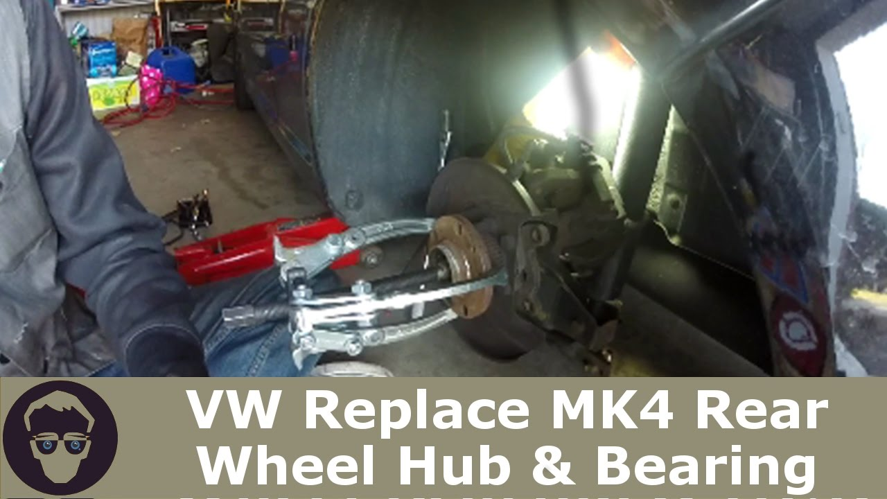 VW Replace MK4 Rear Wheel Bearing & HUB on GTI GOLF Jetta R32