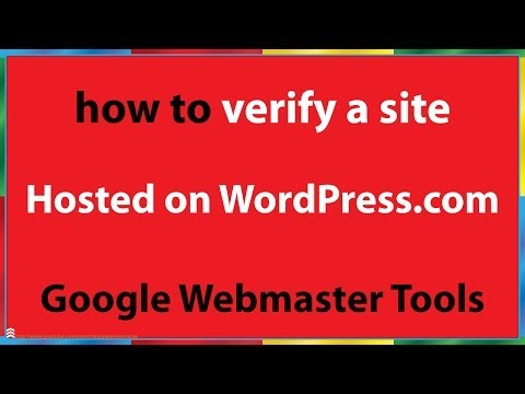 How to Verify a Web Site That is Hosted on WordPress.com - 동영상