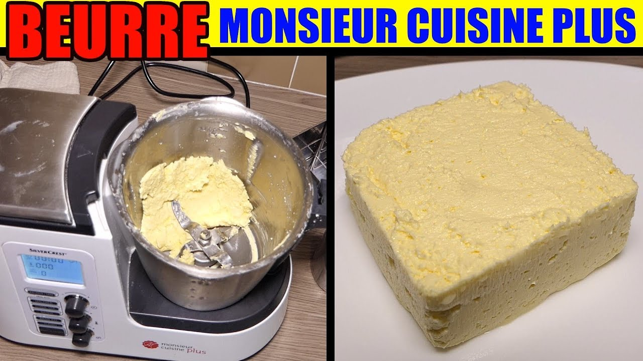 Recette beurre monsieur cuisine edition plus lidl thermomix butter recipe butterrezept youtube - Thermomix lidl precio ...
