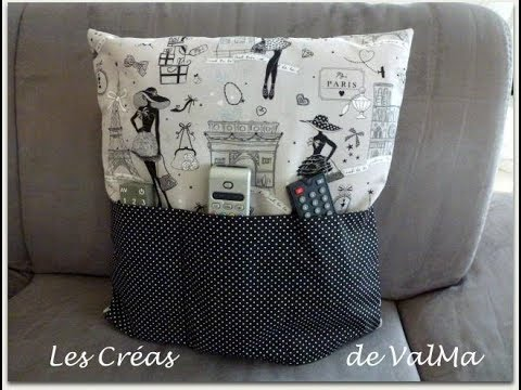 tuto couture housse coussin poches de rangement doudou t l commandes etc youtube. Black Bedroom Furniture Sets. Home Design Ideas