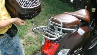 Installing Top Box on Vespa GTV-300