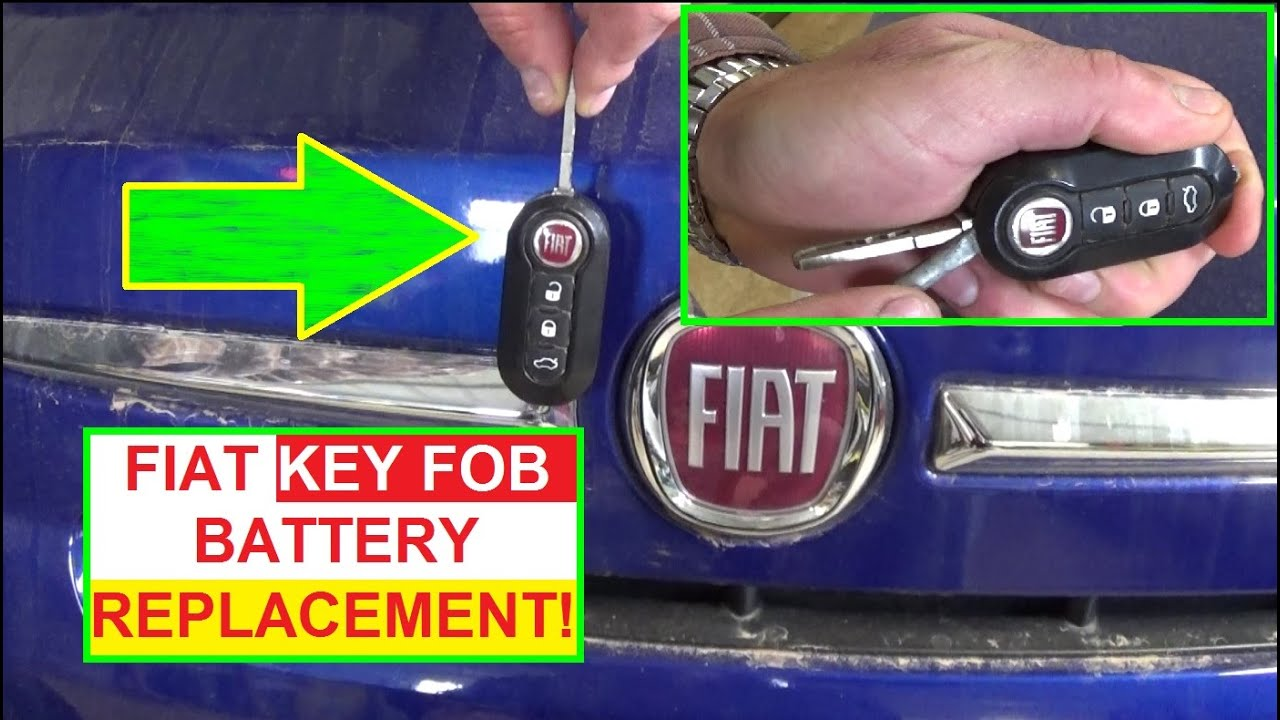 Fiat 500 Car Key Battery