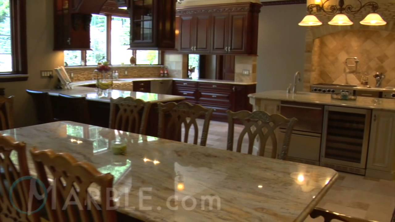 Colonial Gold Granite Kitchen New Colonial Dream Granite Kitchen Countertops By Marblecom Youtube
