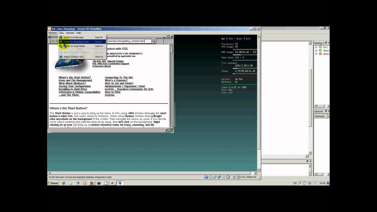 Integración GNS3 con VirtualBox