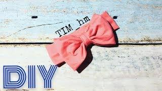 как сделать повязку на голову с бантиком