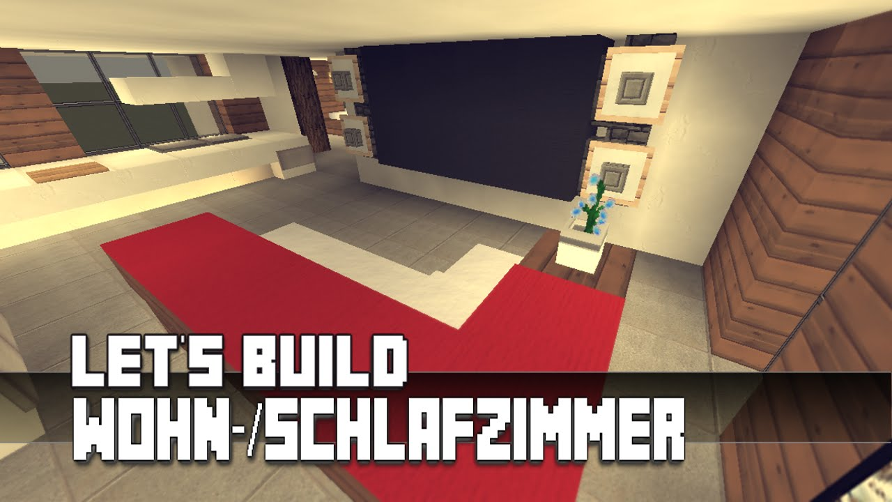 minecraft m bel tutorial modernes wohn schlafzimmer haus nr 11 youtube. Black Bedroom Furniture Sets. Home Design Ideas