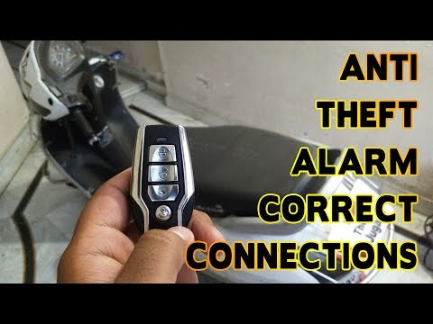 Correct Installation Of Anti Theft Alarm In Bikes