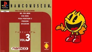 Namco Museum Vol. 3 PS1 Intro And Gameplay