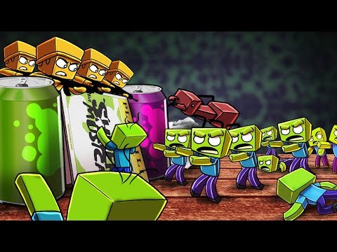 Minecraft | TINY FORT WARS: Yellow Army vs Zombie Invasion! (Zombie Apocalypse)