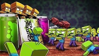 Minecraft   TINY FORT WARS: Yellow Army vs Zombie Invasion! (Zombie Apocalypse)