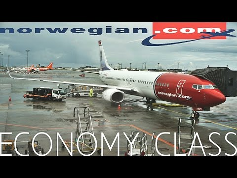 Norwegian Airlines ECONOMY CLASS Copenhagen to London|Boeing 737-800