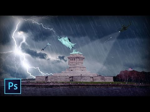Statue of Liberty atack - Photoshop Speedart