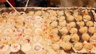 Japanese Street Food - TAKOYAKI たこ焼き Octopus Balls Fukuoka Japan